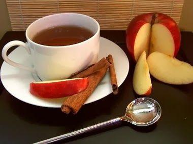 O chá de maçã com canela, além de delicioso, é digestivo e acelera o metabolismo, sendo ótimo para a queima de gordura.