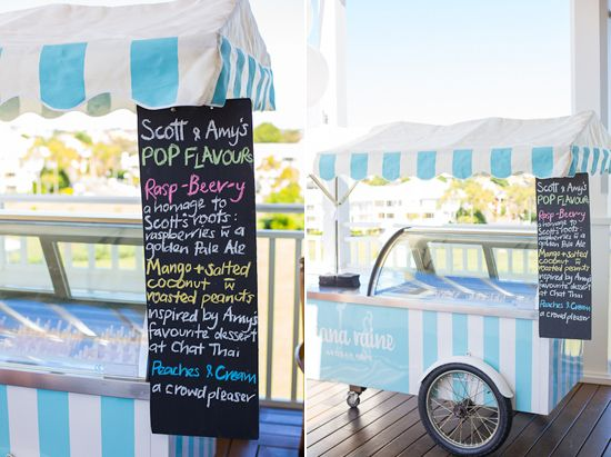 Cute popsicle vendor - Amy and Scott's Sydney Country Club Wedding