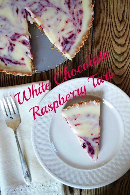White Chocolate Raspberry Tart via @bakeaholicmama #sundayswithjoy