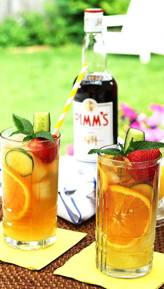 When a summer afternoon finds you playing badminton on the lawn, cooling off at the 19th hole, or simply dipping your toe in the pool, you need a daytime cocktail that's light and fruity without being overly sweet. Click for our Pimm's Cup recipe!