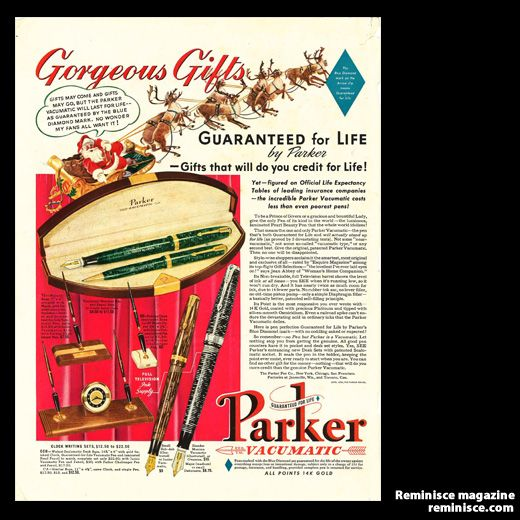 Parker Pens ad, 1939