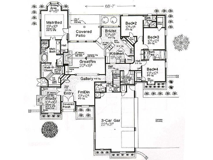 Unique European House Plans 28 Images Plan 042h 0043