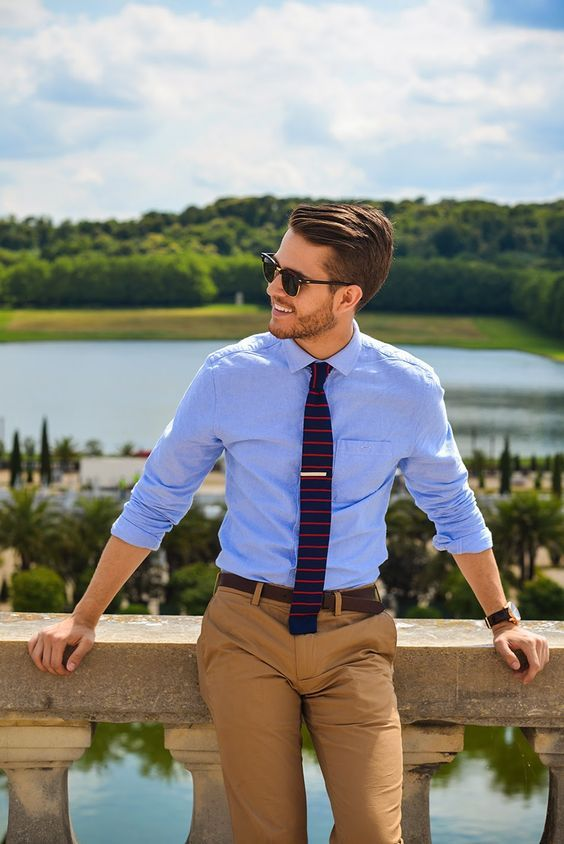 Knitted Tie outfit men