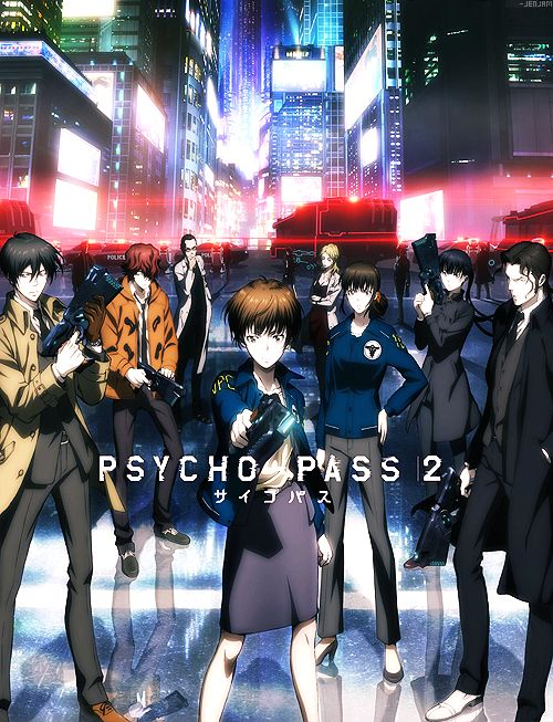 SECOND SEASON OF PSYCHO PASS 2!!! <3 soooo looking forward to this. But wait where is kogami???