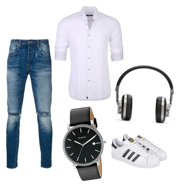 Casual by maffaldacunha on Polyvore featuring polyvore Stone Rose Levi's adidas Skagen Master & Dynamic men's fashion menswear clothing