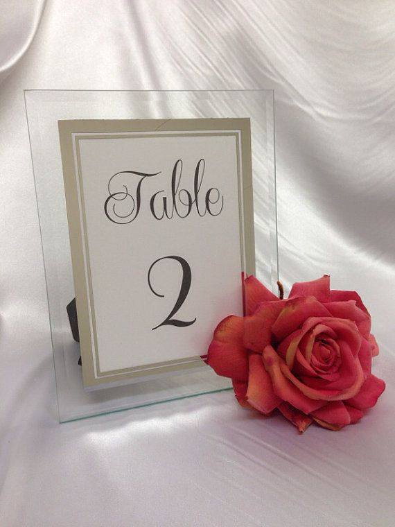 Glasses Numbers On Frame : GLAMOROUS - Mirrored Glass Wedding Table number frames ...
