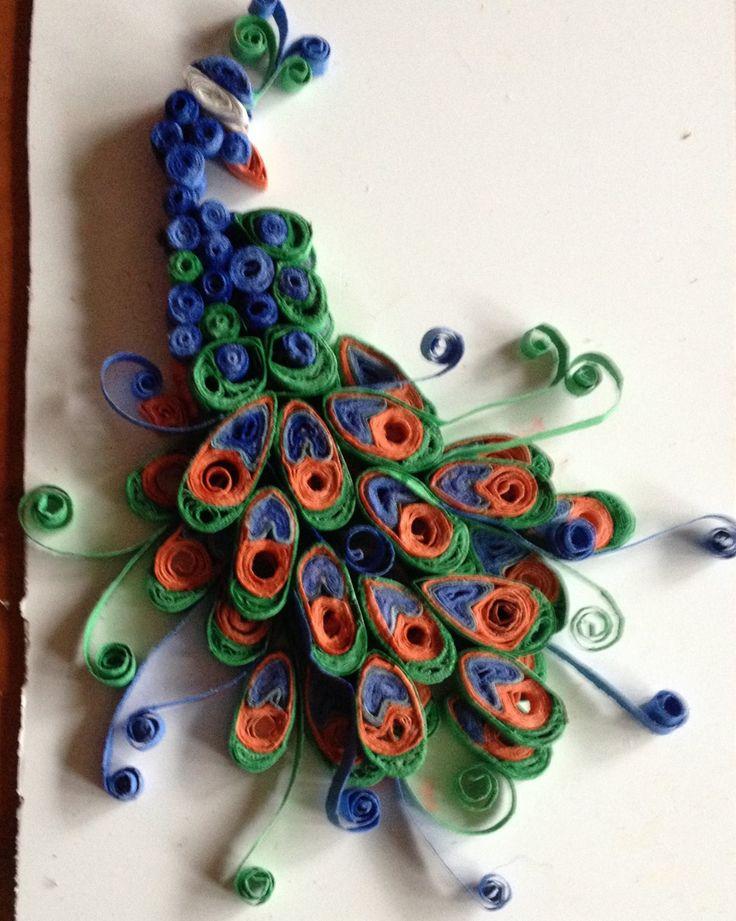 127 beste afbeeldingen over quilling op pinterest pauwen for Big quilling designs
