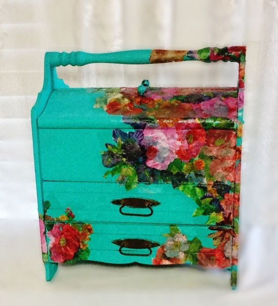 Large Jewelry Box Crochet Box Knitting Box by MyRavensWritingDesk