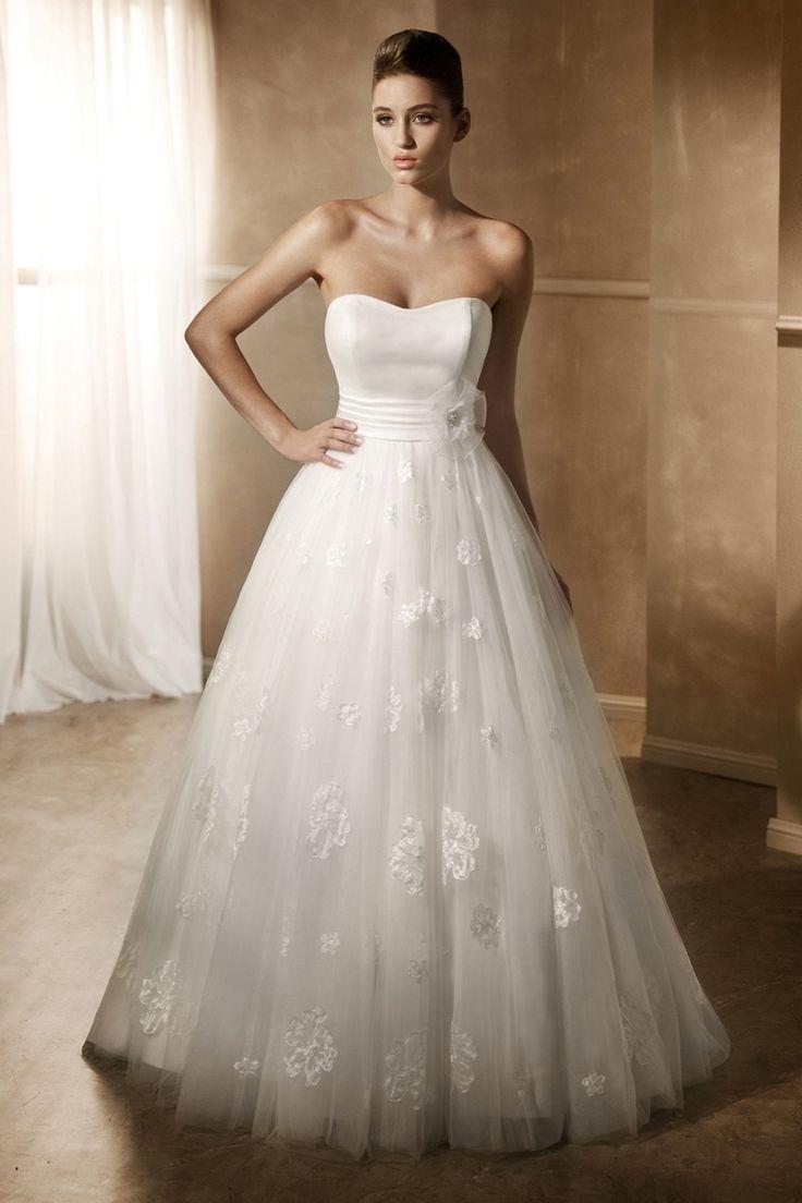 Fabulous Mia Solano Satin Ball Gown Wedding Dress MZ http miasolano