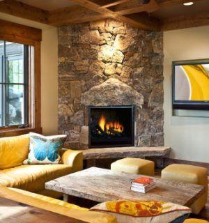 61 best Corner fireplace images on Pinterest Corner fireplaces