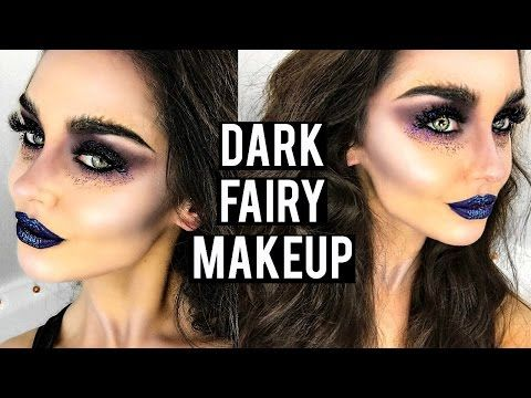 Dark / Evil Fairy Halloween Makeup Tutorial | KatesBeautyStation - YouTube