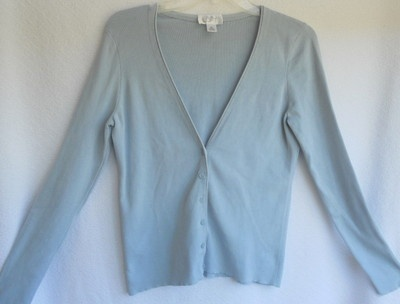 Ann Taylor Loft blue cardigan sweater