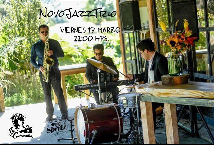 Este Viernes 17 de Marzo la buena música se toma La Carmela Casa-Bar y con un trío del mejor Jazz.  NovoJazzTrío nos entregará toda su energía para disfrutar de un largo set de su repertorio los invitamos a disfrutar bailar y gozar junto a esta gran banda local un orgullo como La Carmela tenerlos en casa.  Recuerden viernes 17 22:00 hrs. Nos vemos en Casa! Abierto desde las 18:00 hrs.  #AperolSpritz #Aperolnight #AperolMusic #Music #Jazz #NovoJazzTrio #LaCarmelaCasabar #Imperial650…