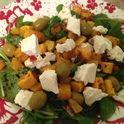 Запеченная тыква с оливками и фетой