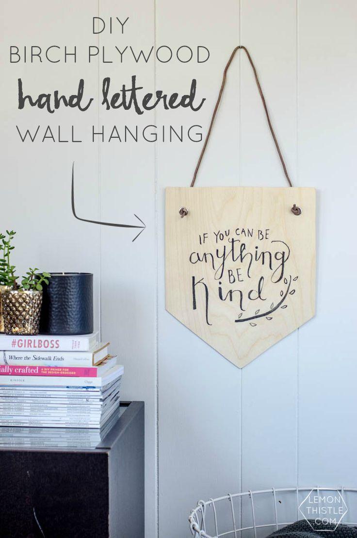Plywood Wall Hanging