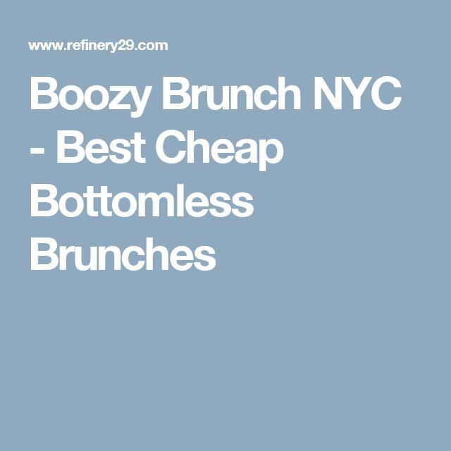 Boozy Brunch NYC - Best Cheap Bottomless Brunches