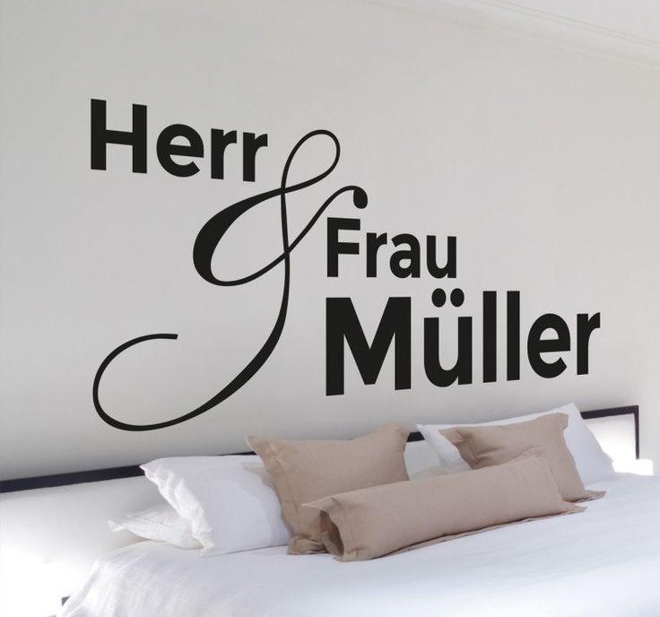 Personalisierbares #Wandtattoo, das sich perfekt für Ihr #Schlafzimmer eignet.  Bringen Sie einen eleganten Look in Ihr Zuhause und personalisieren Sie es in einer modernen Art und Weise mit Ihrem #Namen. #tenstickers #personalisiert #individuell