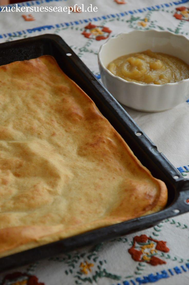 ♥ Zuckersüße Äpfel ♥: Das leckerste Rezept für Pfannkuchen aus dem Ofen