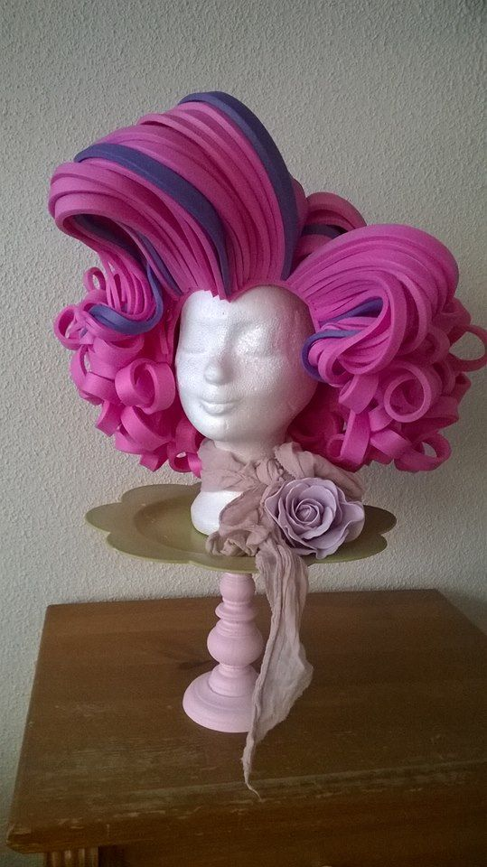 Pink Marilyn Monroe foam wig made by Lady Mallemour foam studio