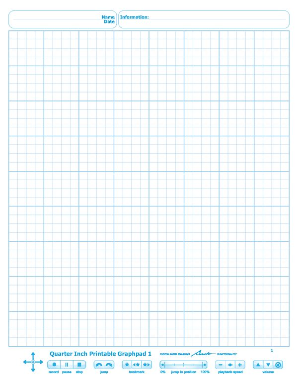 Quarter Inch Printable Graphpad 1 Daily Diary Printables, Graph
