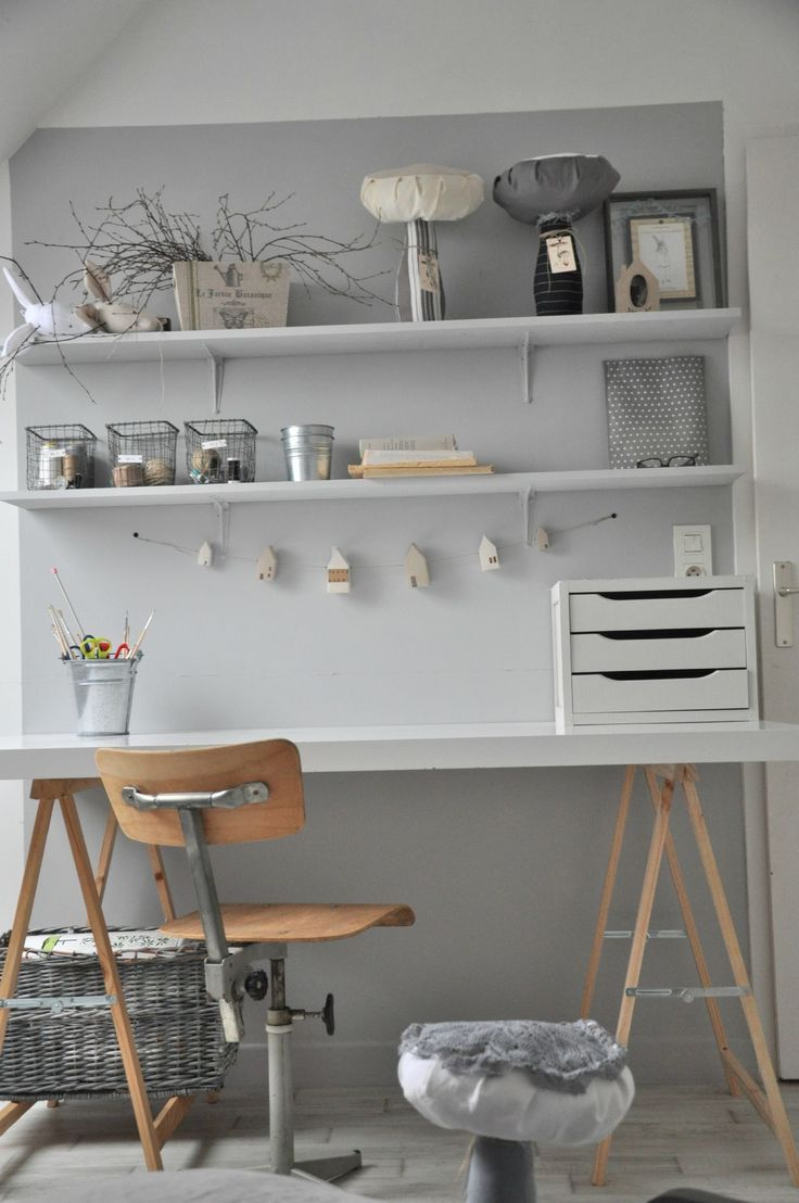 Homemade desk for future bedroom or living area!