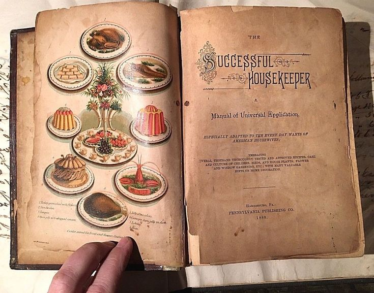Antique Victorian 1888 The Successful Housekeeper Cookbook Housewives Guide Book