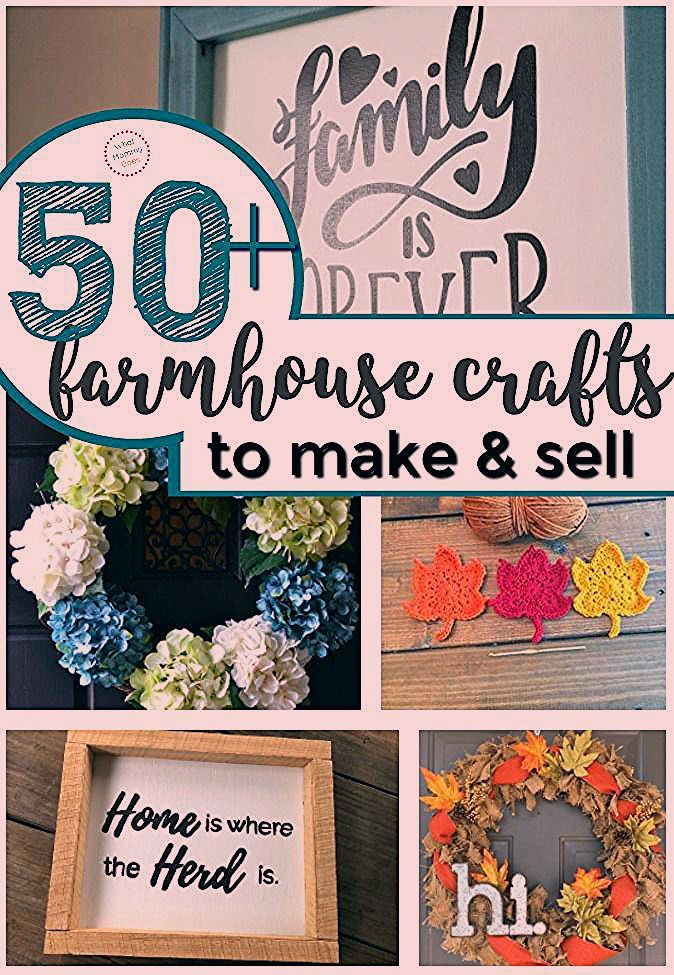 50 Farmhouse Crafts That You Can Sell At Flea Markets In 2020
