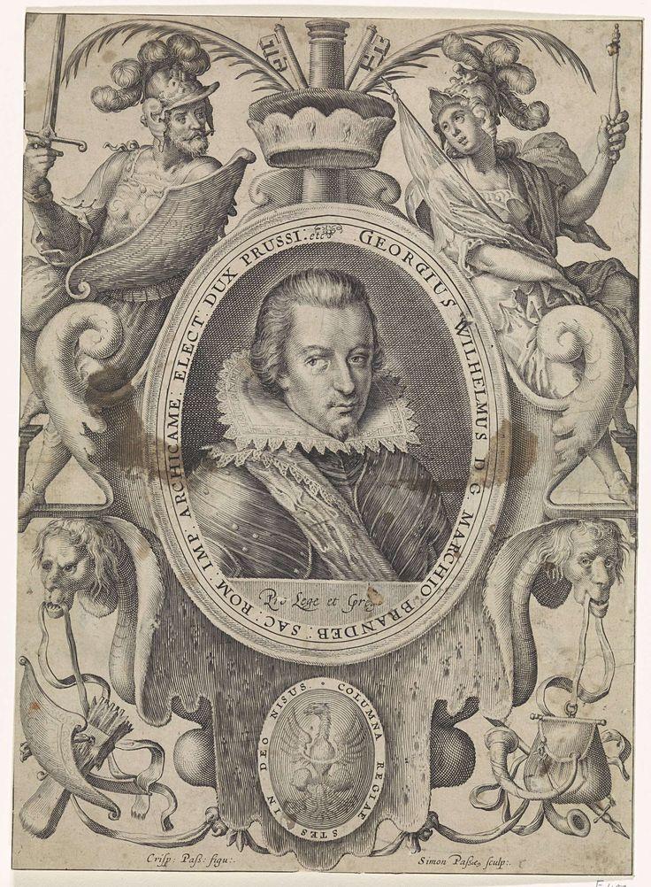 Portret van Georg Wilhelm, keurvorst van Brandenburg, Simon van de Passe, 1615