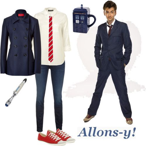 Doctor Who: 10th Doctor inspired outfit - Love the blue jacket!