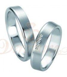 Βέρες γάμου από πλατίνα με διαμάντι Breuning 9082-9083