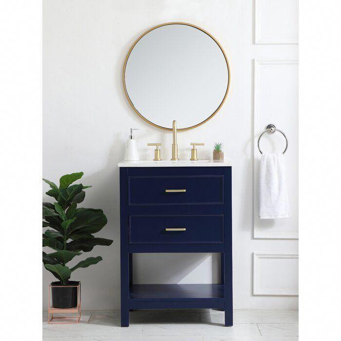 Goodin 24 Single Bathroom Vanity Set In 2020 Single Bathroom Vanity Decor Vanity