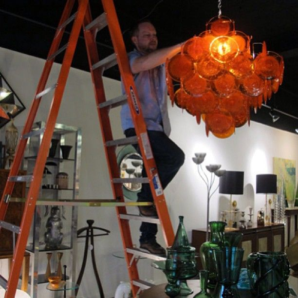 Lewis Trimble lighting his Vistosi during setup of Fall 13 High Point Market. Loving this & 26 best 214 Modern Vintage in High Point NC images on Pinterest ... azcodes.com