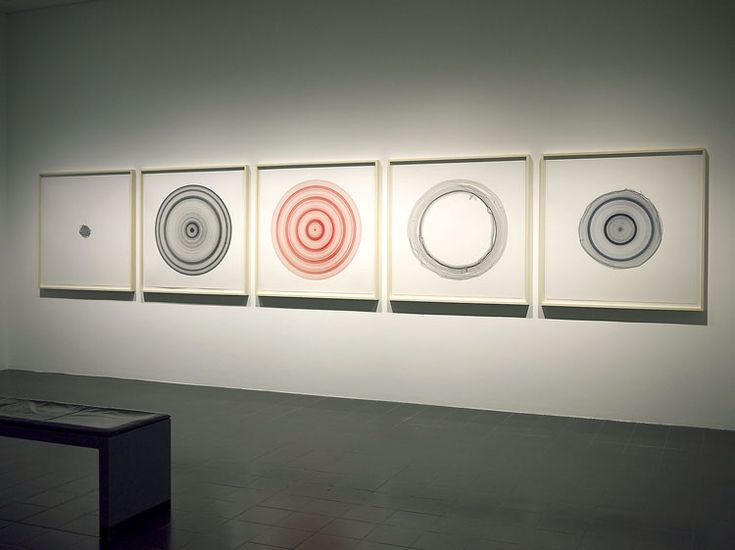 Jill Baroff: Hamburg Tide Circles, 2013-2014, installed at the Hamburger Kunsthalle for the exhibition, Lichtwark Revisited.