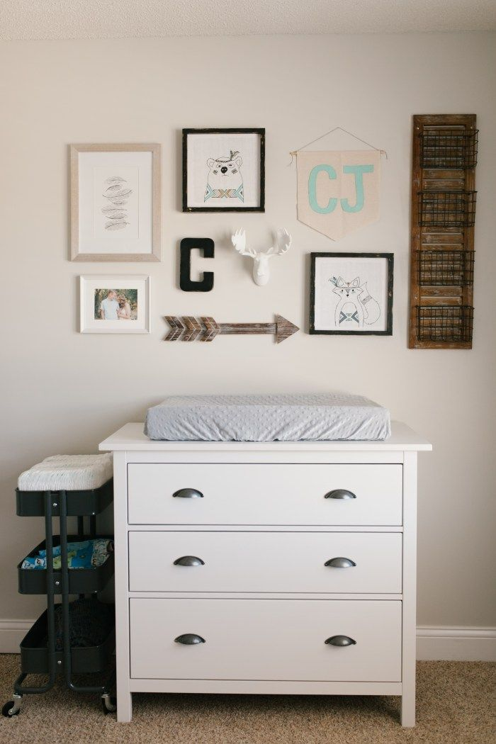Calebu0027s Rustic Neutral Nursery Reveal. Nursery Dresser OrganizationChanging  Table OrganizationIkea ...