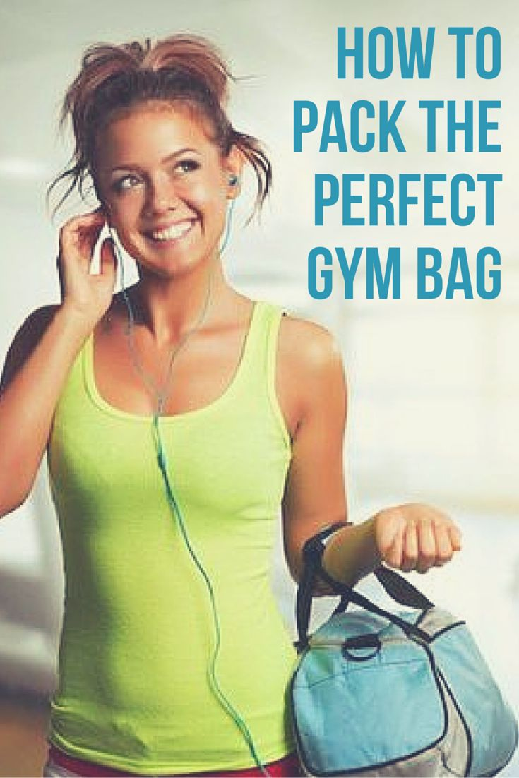 How to Pack the Perfect Gym Bag. Fitness bag essentials and tips for women, men and bodybuilding. Be prepared for your workouts.