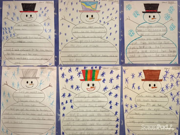 how to build a snowman grade 1