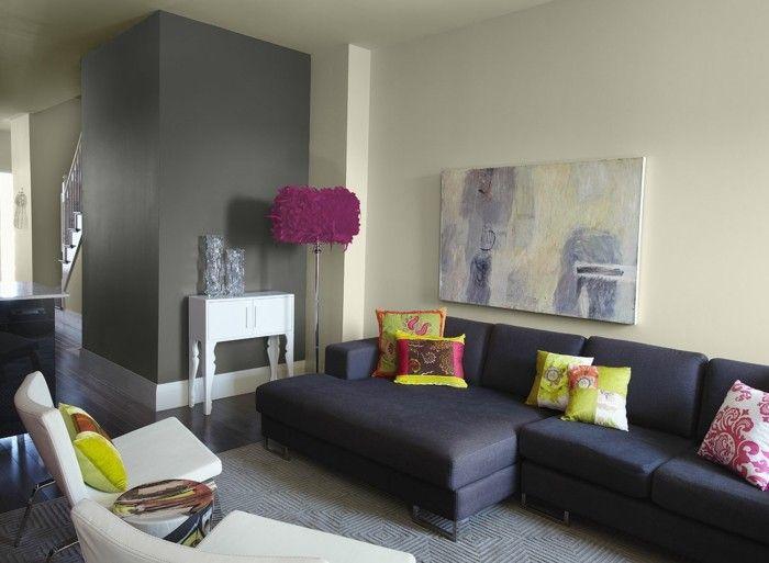 ber ideen zu lila wohnzimmer auf pinterest. Black Bedroom Furniture Sets. Home Design Ideas