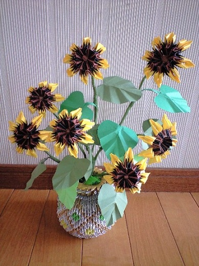 3D Origami - Sunflower
