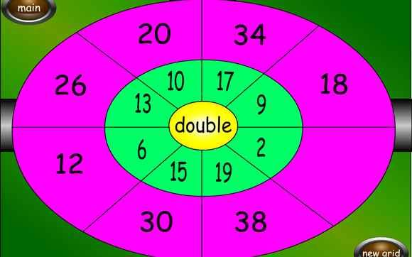 Dartboard Double and Half - 6-11 year olds - Topmarks