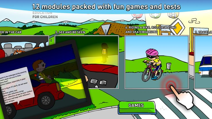 12 modules packed with fun games and tests