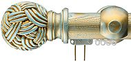 Regency Woodglide 48mm Corded & Uncorded Curtain Pole, Duckegg Blue, Wessex