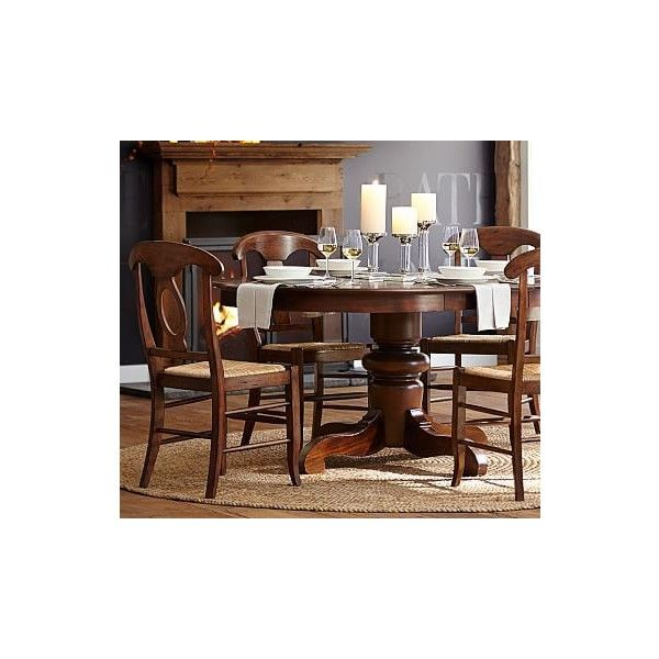 pottery barn tivoli extending round dining table tuscan chestnut 690