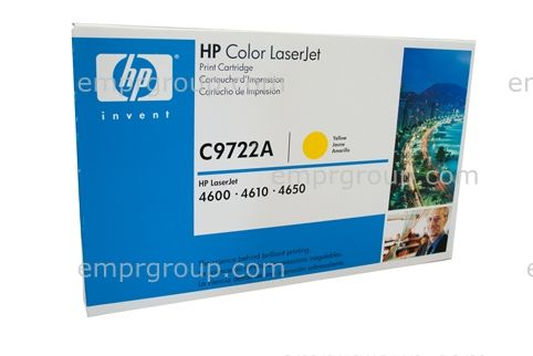Yellow toner cartridge - For the Color LaserJet 46XX series printers