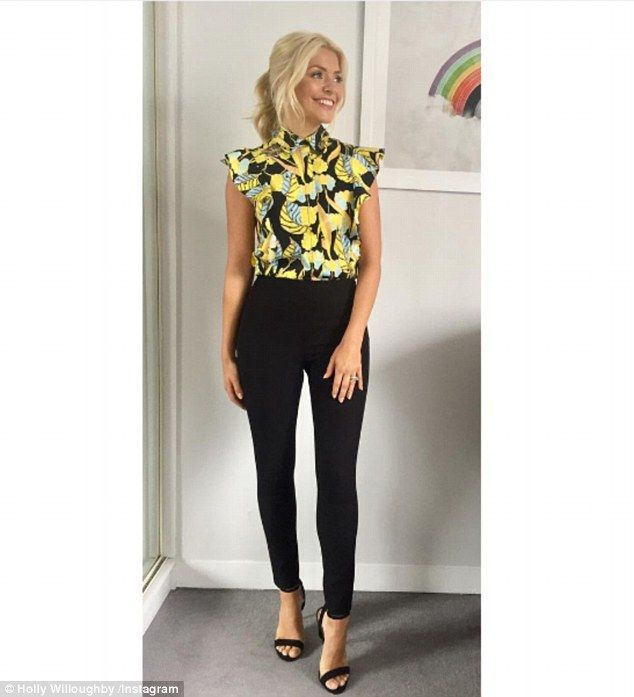 'Happy hump day!' Holly Willoughby continued to showcase her fabulous physique as she took to Instagram on Wednesday