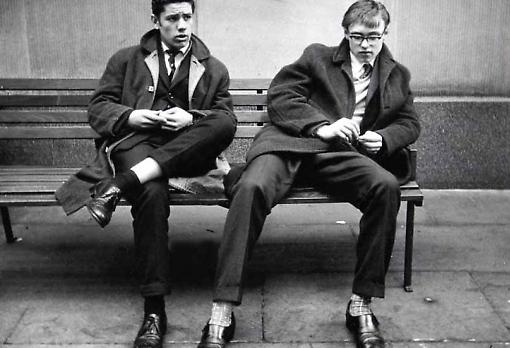 Young men in London in 1962, by the German photographer Lutz Dille (born 1922).