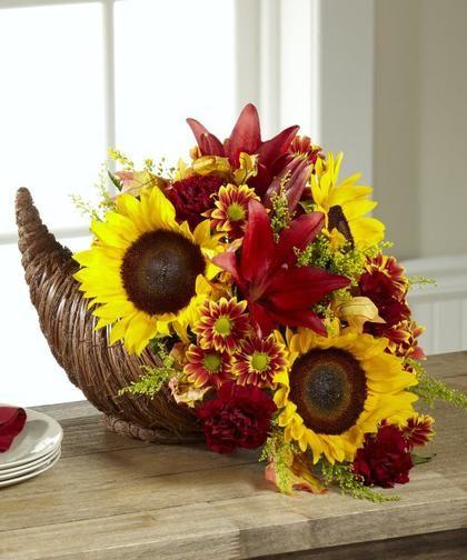 Enjoy this modern take on the Thanksgiving #cornucopia.