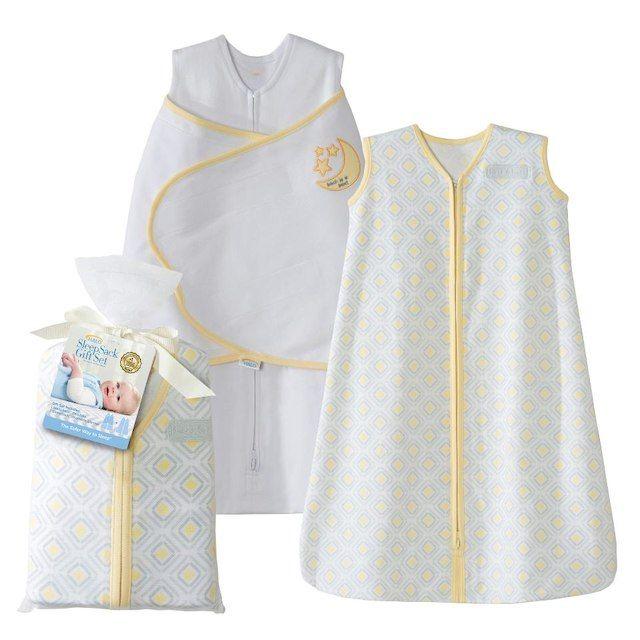 HALO SleepSack Two-Piece Gift Set 100% Cotton - Yellow Moon and Stars