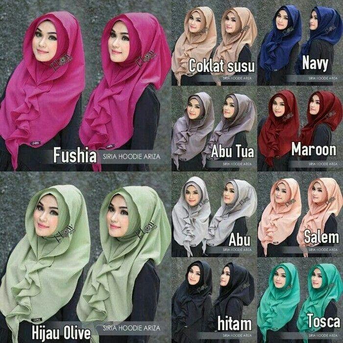 Jilbab instan / Syria Hoodie Ariza Diamond, Jilbab Instan model Siria Hoodie yang dimodif dengan inner menempel, jadi kita tidak pusing mencari inner jika ingin menggunakan hoodie, Design siria hoodie dengan aksen layer