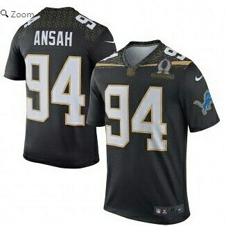Ziggy Ansah Team Irvin Nike 2016 Pro Bowl Game Jersey Black