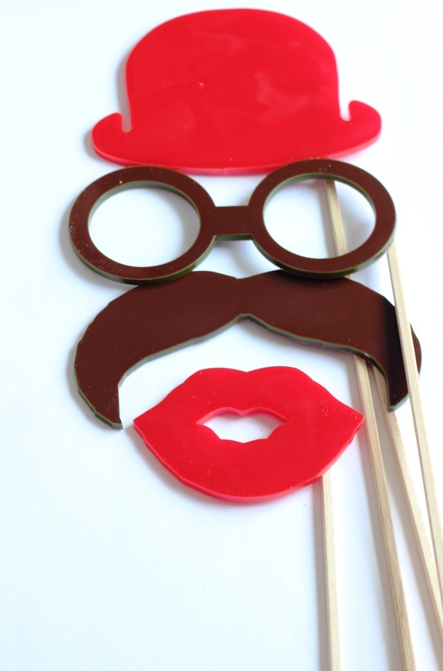18 Wedding photo booth props Photogrpahy props £45.00